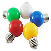 5 stk 1w e27 5xsmd2835 100-150lm farvekugleboble lampe ledet pærer (tilfældig farve)