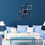 reloj de pared 3d espejo creativo tridimensional cuadrado