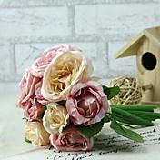 """Bouquets de Noiva Redondo Rosas Buquês Casamento Rosa Cetim 5.51""""(Aprox.14cm)"""