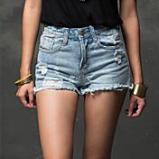 Pantalón De las mujeres Bodycon / Casual - Denim