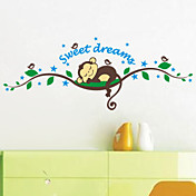 Animales Caricatura 3D Pegatinas de pared Calcomanías de Aviones para Pared Calcomanías Decorativas de Pared,Vinilo MaterialDecoración
