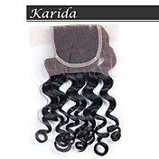 karidaヘア4x4のブラジルのレースのフロントの閉鎖、学年6aの高品質の人間の髪の毛の閉鎖