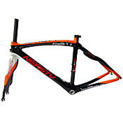 Cuadro de bicicleta de carretera Carbono total Bicicleta Marco 700C Brillante 3K 12K cm pulgada