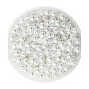100g beadia (aprox 1000pcs) abs perlas 6mm de plástico de color espaciador perlas sueltas redonda de color blanco para la fabricación de