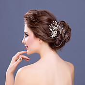 Mujer Diamantes Sintéticos / Aleación / Perla Artificial Celada-Boda / Ocasión especial Peinetas 1 Pieza