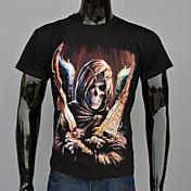 Camisetas ( Algodón/Algodón Orgánico/Poliéster )- Casual/Fiesta/Trabajo Redondo Manga Corta para Hombre