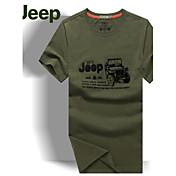 MEN Tシャツ ( コットン ) カジュアル ラウンド - 半袖