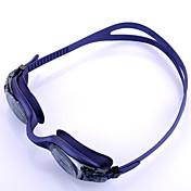 YOBO スイミングゴーグル 男女兼用 曇り止め / 防水 / サイズが調整できます. / 紫外線カット / 滑り止めストラップ シリカゲル PC パープル ライトグレー