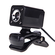 4led usb 2.0 12 m hd kamera web cam med mikrofon clip-on nattesyn 360 graders for desktop skype computer pc laptop