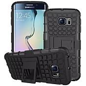のために Samsung Galaxy ケース ウォレット / 耐衝撃 / スタンド付き / フリップ ケース バックカバー ケース 鎧タフケース PC のために Samsung S7 edge / S7 / S6 edge / S6 / S5 Mini / S5 / S4