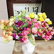 Afdeling Polyester Plastik Kamelia Bordblomst Kunstige blomster