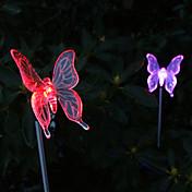 paquete de 2 solares mariposa del color-luz cambiante juego de jardín