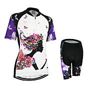 Arsuxeo® Biciklistička majica s kratkim hlačama Žene Kratki rukav BiciklProzračnost / Quick dry / Anatomski dizajn / YKK patent /