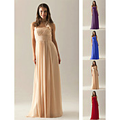 Bridesmaid Dress Floor Length Chiffon Empire Halter Dress