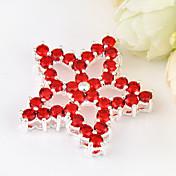 結婚式のパーティー、毎日1個のためのネックレスのためのファッションフォワード火災赤水晶の宝石925銀五芒星のペンダント