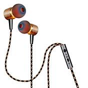 plextone®x41mインイヤー金属iphone6 / iphone6プラス携帯端末の/パッド/ MP3 / PC用のマイクとcompatibeと重低音イヤホン