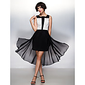 Corte en A Escote Cuadrado Asimétrica Raso Fiesta de Cóctel Vestido con Plisado por TS Couture®