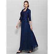 Kappe / kolonne kvadratisk hals ankel-længde blonder moder af bruden kjole ved lan ting bride®