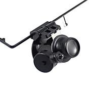 単眼鏡 虫眼鏡 高解像度 LED 耐候性 Fogproof ジェネリック 広角 ヘッドセット 20 25 メタル アルミニウム