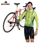Kingbike Chaqueta de Ciclismo Hombre Bicicleta Chaqueta Impermeable/Poncho Tops Impermeable Resistente a los UV Resistente a la lluvia A