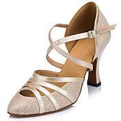 Zapatos de baile (Negro / Marfil / Plata) - Danza latina - Personalizados - Tacón de estilete