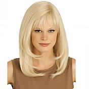 blondýna dlouhé vysoce kvalitní přírodní rovné vlasy syntetické paruka s bezplatným třesku