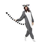 Kigurumi Pyžama Opice Leotard/Kostýmový overal Festival/Svátek Animal Sleepwear Halloween Šedá Patchwork polar fleece Kigurumi Pro Unisex