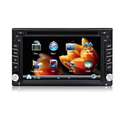 "2 DIN en el tablero de coches reproductor de DVD/6.2 ""Touch Screen/GPS,radio,control del volante/Volkswagen,Peugeot Citroen,Ford,Toyota,GM"