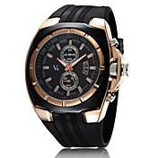 V6 Hombre Reloj Militar Reloj de Pulsera Cuarzo Cuarzo Japonés Caucho Banda Negro Blanco Negro