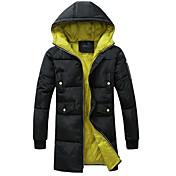 MEN コート&ジャケット ( コットンブレンド ) カジュアル スタンド - 長袖
