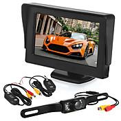 Bil vende overvågning4,3 tommer display / ledet licens kamera / trådløs sender og modtager