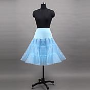 Podsuknje Ball haljina proklizavanja Do koljena 3 Poliester Likra Organza Tamno plava Sky blue Zelen Plava Pink