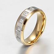 バンドリング ステンレス鋼 スチール 模造ダイヤモンド ファッション シンプルなスタイル スクリーンカラー ジュエリー パーティー 1個