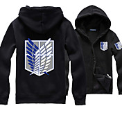 Inspirado por Attack on Titan Allen Walker Animé Disfraces de cosplay sudaderas Cosplay Un Color Estampado Manga Larga Top ParaHombre