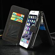 Para iPhone 8 iPhone 8 Plus iPhone 6 iPhone 6 Plus Carcasa Funda Cartera Soporte de Coche con Soporte Flip Cuerpo Entero Funda Color