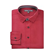 JamesEarl 男性 シャツカラー ロング シャツ&ブラウス バーガンディー - DA112045383