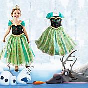 Cosplay Kostumer Prinsesse Eventyr Film Cosplay Kjole Halloween Jul Nytår Barn Chiffon