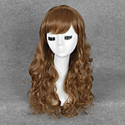 Mujer Pelucas sintéticas Sin Tapa Medio Ondulado Marrón Peluca de Halloween Peluca de carnaval Las pelucas del traje
