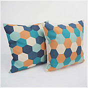 Algodón/Lino Cobertor de Cojín / Funda de almohada , Geométrica Moderno/Contemporáneo / Casual / Retro