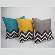 Algodón/Lino Cobertor de Cojín / Funda de almohada , GeométricaModerno/Contemporáneo / Casual / Oficina/ Negocios / Detalle Decorativo /