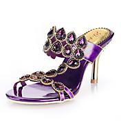 Mujer-Tacón Stiletto-TaconesCasual / Fiesta y Noche / Vestido-Cuero-Rosa / Morado / Oro