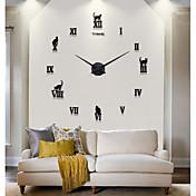 壁時計 - メタル/スタイロフォーム - コンテンポラリー/カジュアル/オフィス - メタル/スタイロフォーム