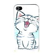 iphone 4 / 4S用の小さな猫パターンハードケース