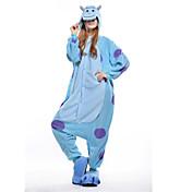 Kigurumi Pyžama New Cosplay® / Monster Leotard/Kostýmový overal Festival/Svátek Animal Sleepwear Halloween Modrá Patchwork polar fleece