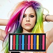 12 farve midlertidige kridt farveblyanter til hår ugiftige hårfarvningsmidler pasteller stick DIY styling værktøjer