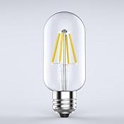 4W E26/E27 LED-glødetrådspærer T 4 COB 400 lm Varm hvid Dekorativ Vandtæt Vekselstrøm 220-240 V 1 stk.