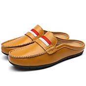Hombre-Tacón Plano-Confort-Zuecos y pantuflas-Exterior Oficina y Trabajo Informal-Cuero-