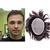 sistema de 7x9 de los hombres peluca de cabello humano estilo de pelo fino libre de mono toupee para los hombres
