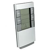 時間バックライト天気予報目覚まし時計付きの屋内電子体温計