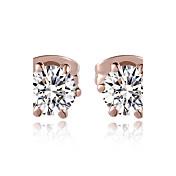 Cristal La imitación de diamante Piedras Clásico Plata # 5 Oro Rosa Joyas